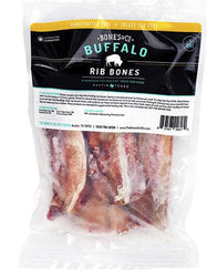 Bones and Co. Raw Bison Ribs Frozen Bones for Dogs