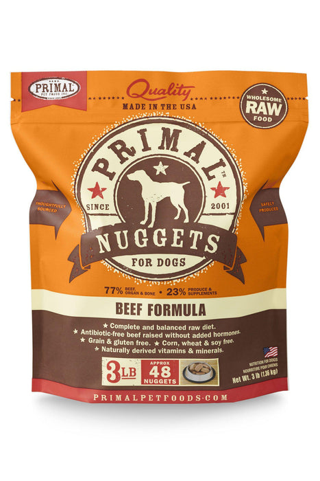 Primal Beef Frozen Raw Dog Food