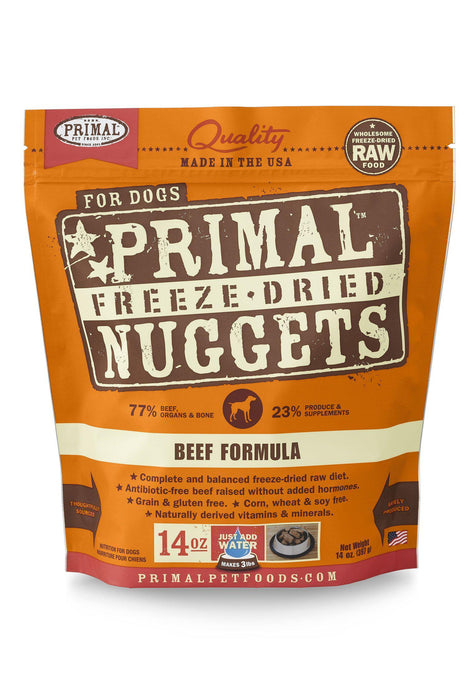 Primal Freeze Dried Nuggets Beef Dog Food
