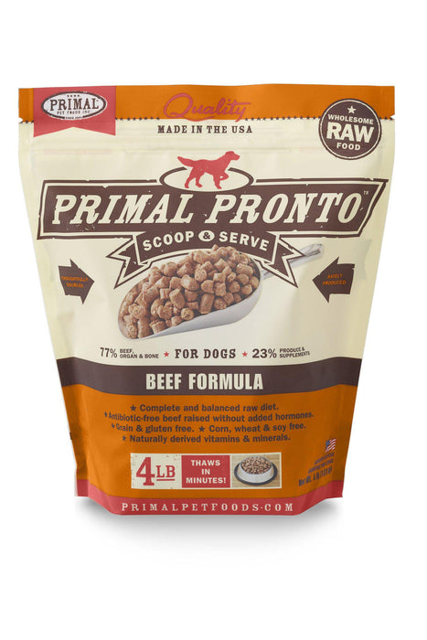Primal Pronto Beef Frozen Raw Dog Food