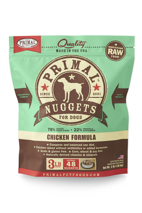 Primal Chicken Frozen Raw Dog Food