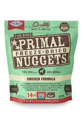 Primal Freeze Dried Nuggets Chicken Dog Food