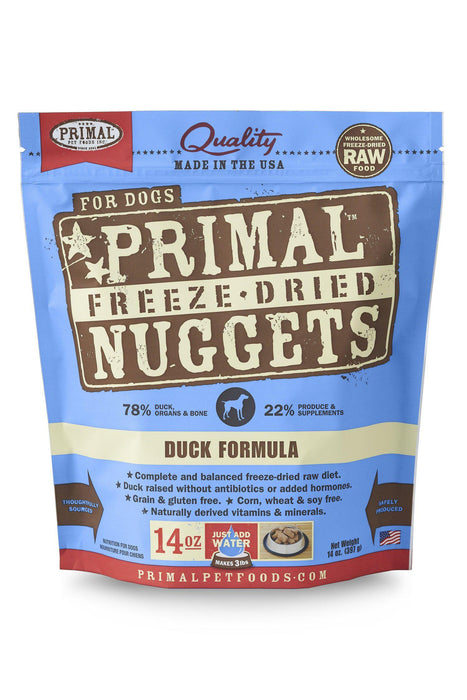 Primal Freeze Dried Nuggets Duck Dog Food