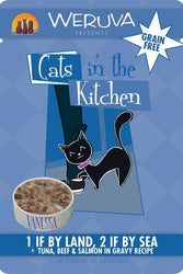 Cats in the Kitchen 1 If By Land, 2 if By Sea Tuna, Beef & Salmon Cat Food Pouch