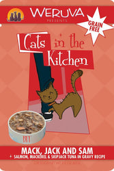 Cats in the Kitchen Mack Jack & Sam Salmon, Mackerel & Tuna Cat Food Pouch