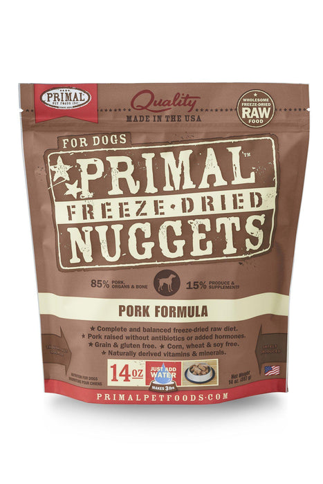 Primal Freeze Dried Nuggets Pork Dog Food