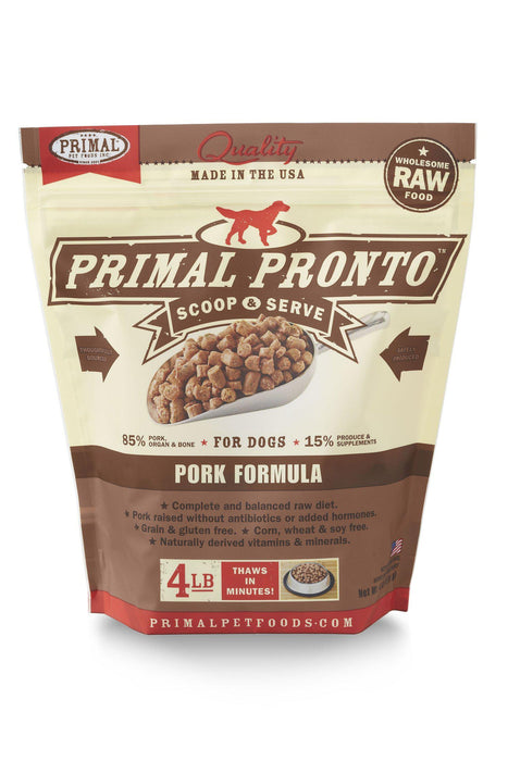 Primal Pronto Pork Frozen Raw Dog Food