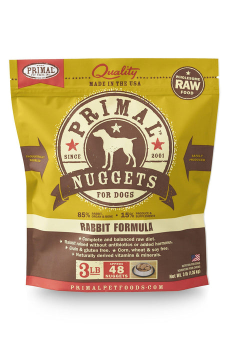 Primal Rabbit Frozen Raw Dog Food