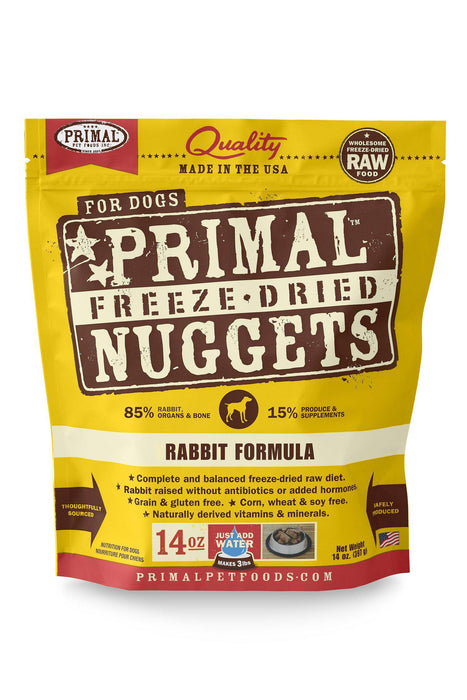 Primal Freeze Dried Nuggets Rabbit Dog Food