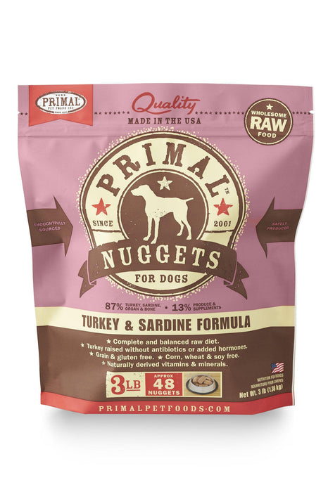 Primal Turkey & Sardine Frozen Raw Dog Food