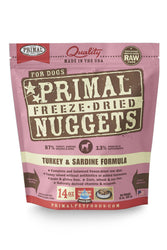 Primal Freeze Dried Nuggets Turkey Dog Food