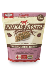 Primal Pronto Turkey & Sardine Frozen Raw Dog Food
