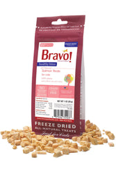 Bravo! Healthy Bites Salmon Freeze-Dried Treats for Cats