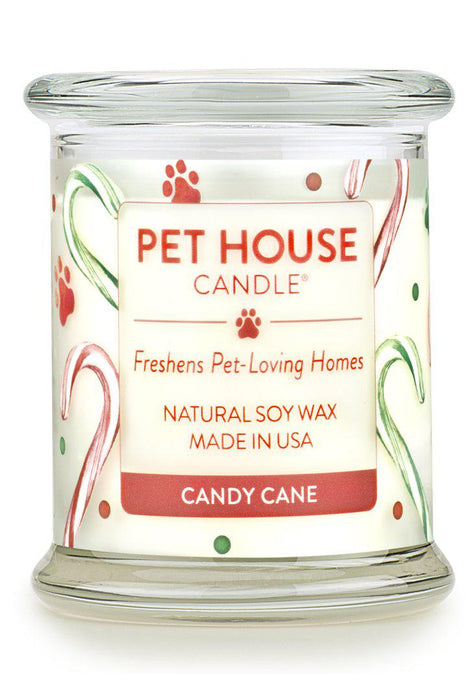 Pet House Candle, Candy Cane