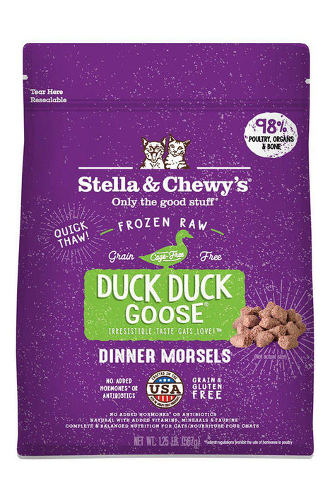 Stella and Chewy's Duck Duck Goose Frozen Raw Cat Food