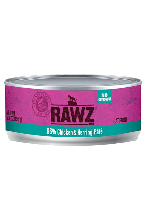 Rawz 96% Chicken & Herring Can Cat Food