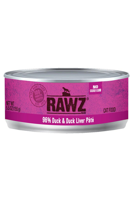 Rawz 96% Duck & Liver Can Cat Food