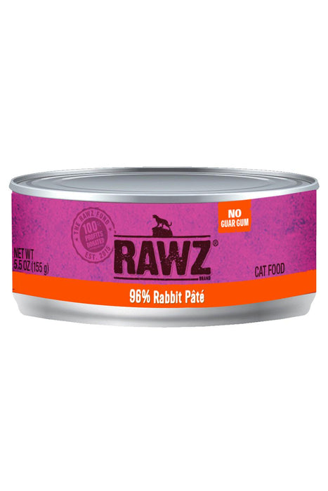 RAWZ 96% Rabbit Can Cat Food