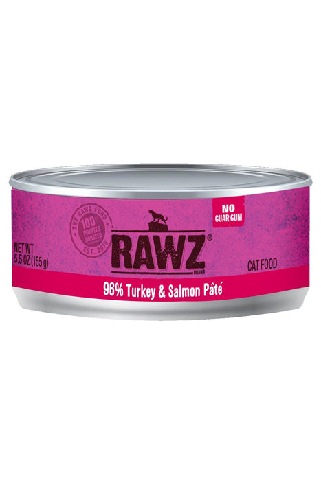 Rawz 96% Turkey & Salmon Can Cat Food