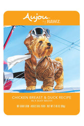 Rawz Aujou Chicken Breast & Duck Dog Food Pouch