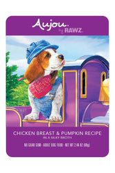 Rawz Aujou Chicken Breast & Pumpkin Dog Food Pouch