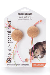Hauspanther Cork Bombs Zest Cat Toy