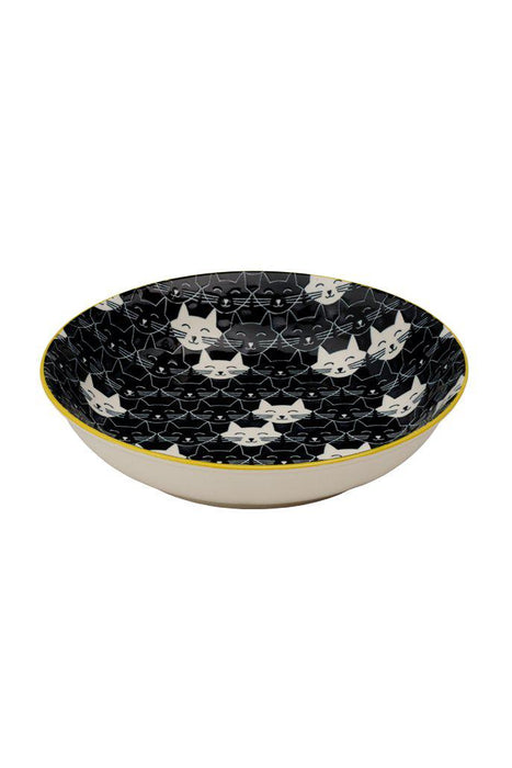 Ore' Pet Ceramic Whisker Black Cat Bowl