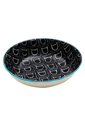 Ore' Pet Avalon Black Ceramic Cat Bowl