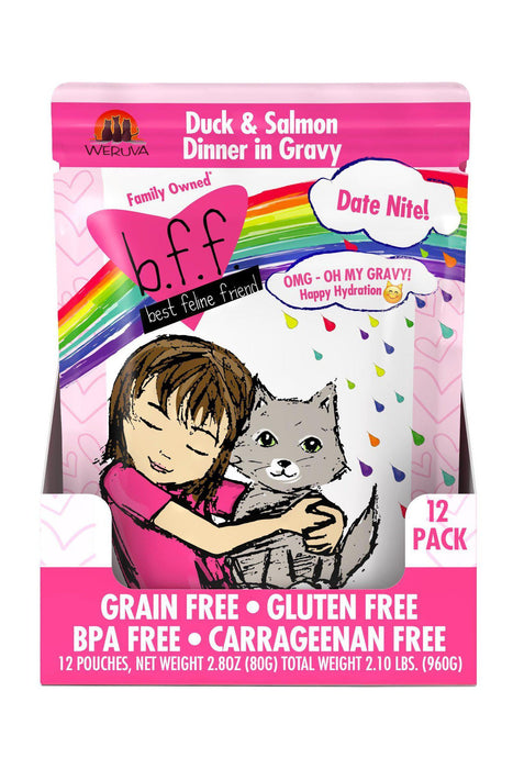 B.F.F. Omg Date Night Duck & Salmon Cat Food Pouch