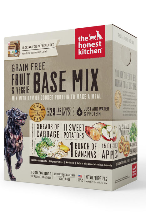 The Honest Kitchen Grain-Free Fruit & Veggie Dog Food Base Mix