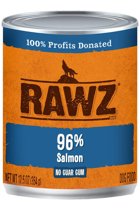 Rawz 96% Salmon Dog Food Can
