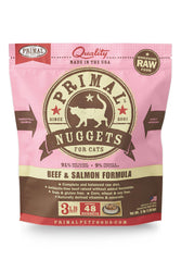 Primal Feline Beef & Salmon Frozen Raw Cat Food