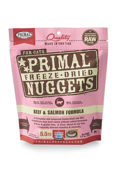 Primal Freeze Dried Nuggets Beef & Salmon Cat Food