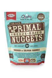 Primal Freeze Dried Nuggets Chicken & Salmon Cat Food