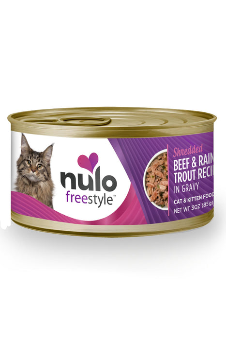 Nulo Freestyle Shredded Beef & Trout Cat Food