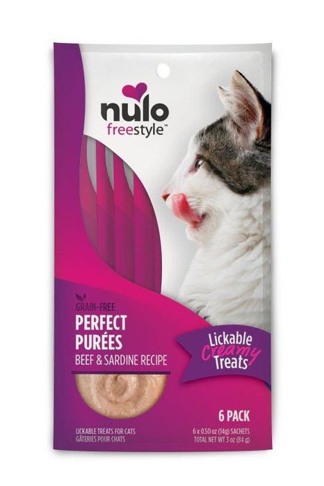 Nulo Freestyle Purfect Purees Beef & Sardine Cat Treats Six Pack