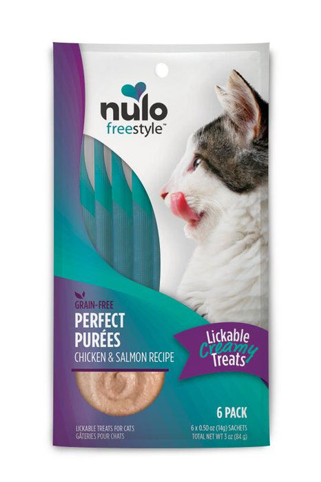 Nulo Freestyle Purfect Purees Chicken & Salmon Cat Treats Six Pack