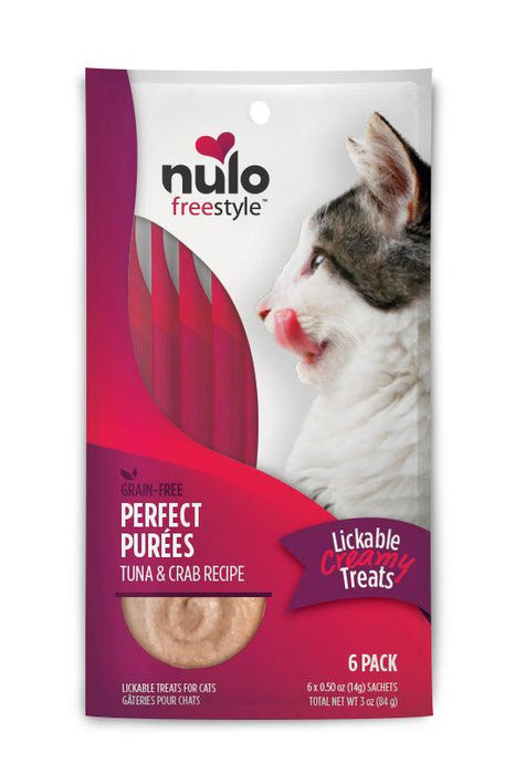 Nulo Freestyle Purfect Purees Tuna & Crab Cat Treats Six Pack