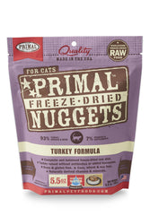 Primal Freeze Dried Nuggets Turkey Cat Food