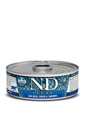Farmina N&D Sea Bass, Squid & Shrimp Canned Cat Food