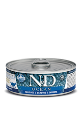 Farmina N&D Sea Bass, Sardine & Shrimp Canned Cat Food