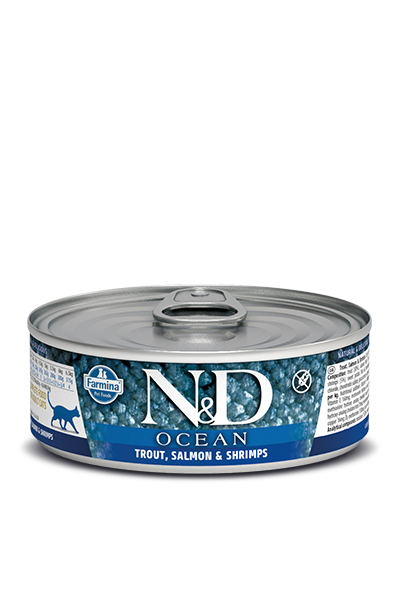 Farmina N&D Trout, Salmon & Shrimp wet Cat Food