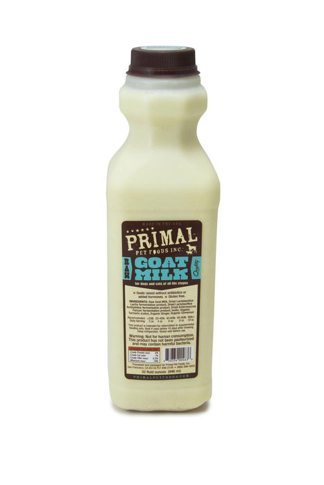 Primal Raw Goat's Milk Frozen Supplement for Pets, 32 oz