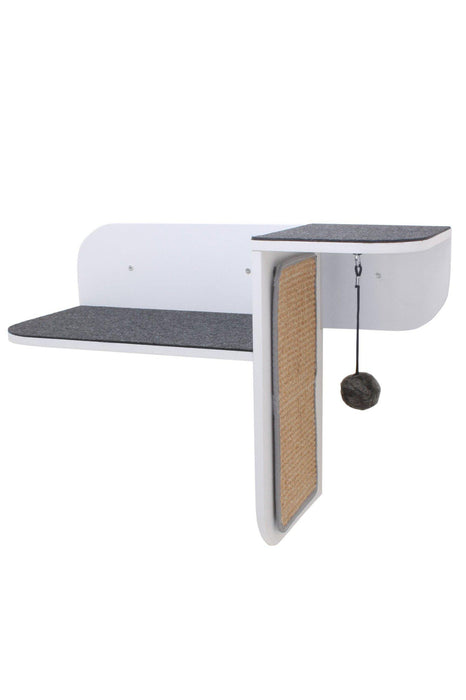Hauspanther Step Perch White Wall-Mounted Cat Furniture