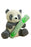 Patchwork Pet Playful Pairs Reed the Panda Dog Toy