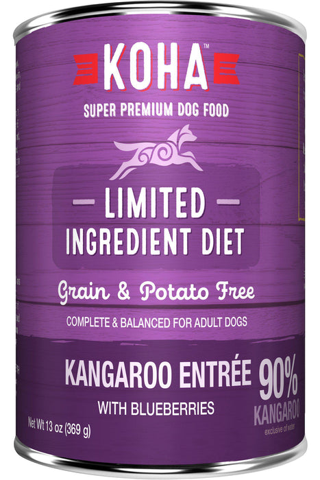Koha Wild Kangaroo Entree Canned Dog Food