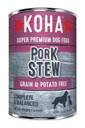 KOHA Pork Stew Canned Dog Food
