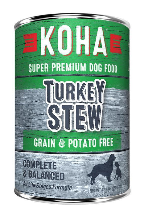 KOHA Turkey Stew Canned Dog Food