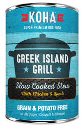 KOHA Greek Island Grill Slow Cooked Stew Canned Dog Food