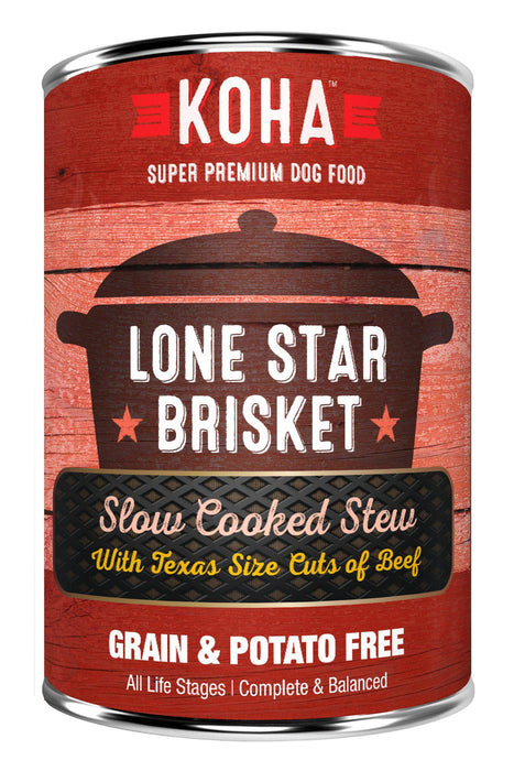 KOHA Lone Star Brisket Slow Cooked Stew Canned Dog Food with Beef